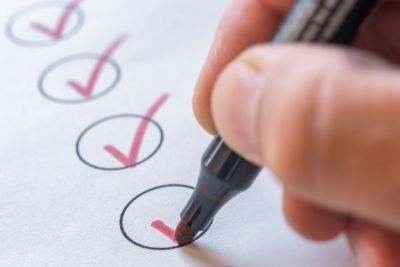 Image of ticks in checklist